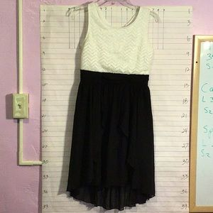 Faded Glory girl's dress sz XL 14/16 black & white